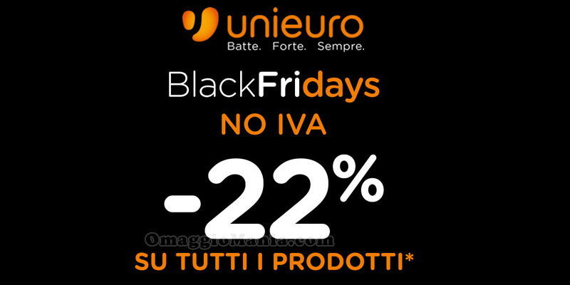 Black Friday Unieuro 2015 no IVA