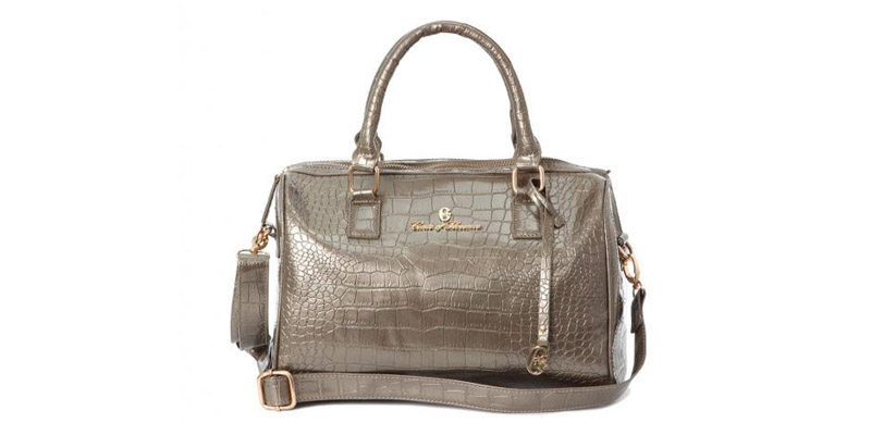 Brigida Croco Bag by Conte of Florence.