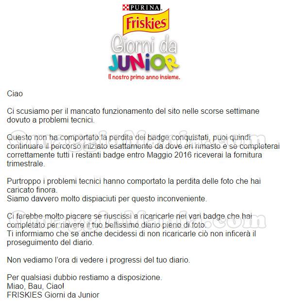 Giorni da Junior 2015 comunicato Purina