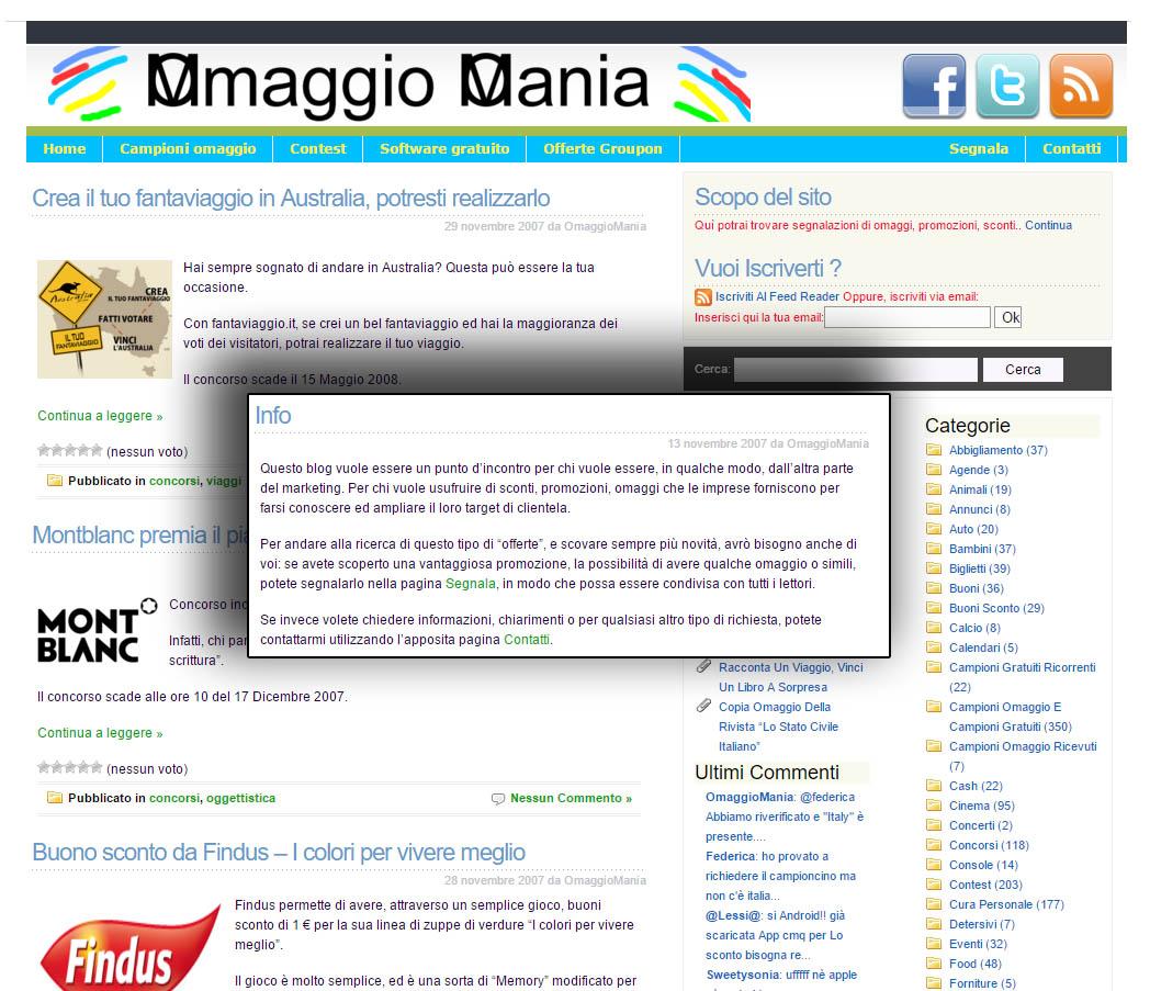 OmaggioMania nel 2007