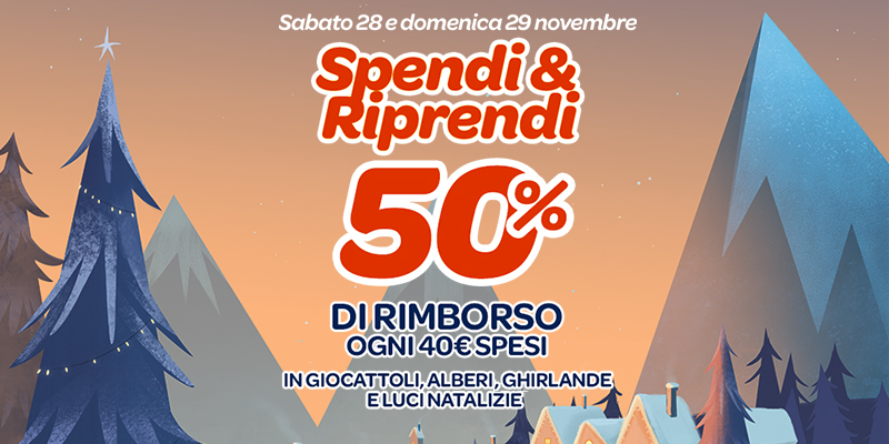 Spendi&Riprendi Carrefour 50 28 e 29 novembre 2015