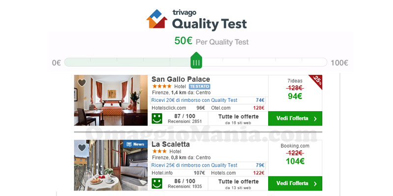 Trivago Quality test