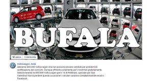 bufala Volkswagen Italia