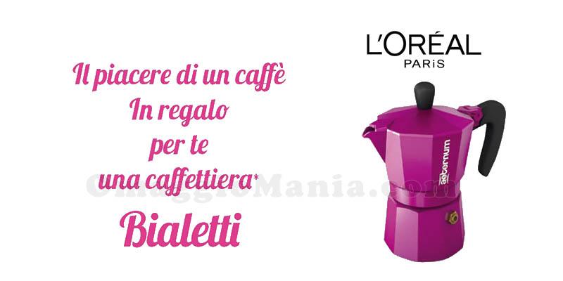 caffettiera Bialetti Allegra omaggio da Acqua&Sapone