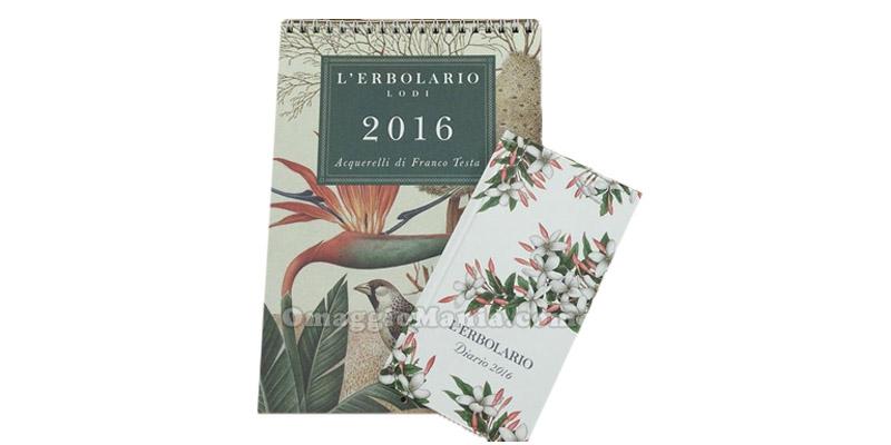 calendario e agendina L'Erbolario 2016