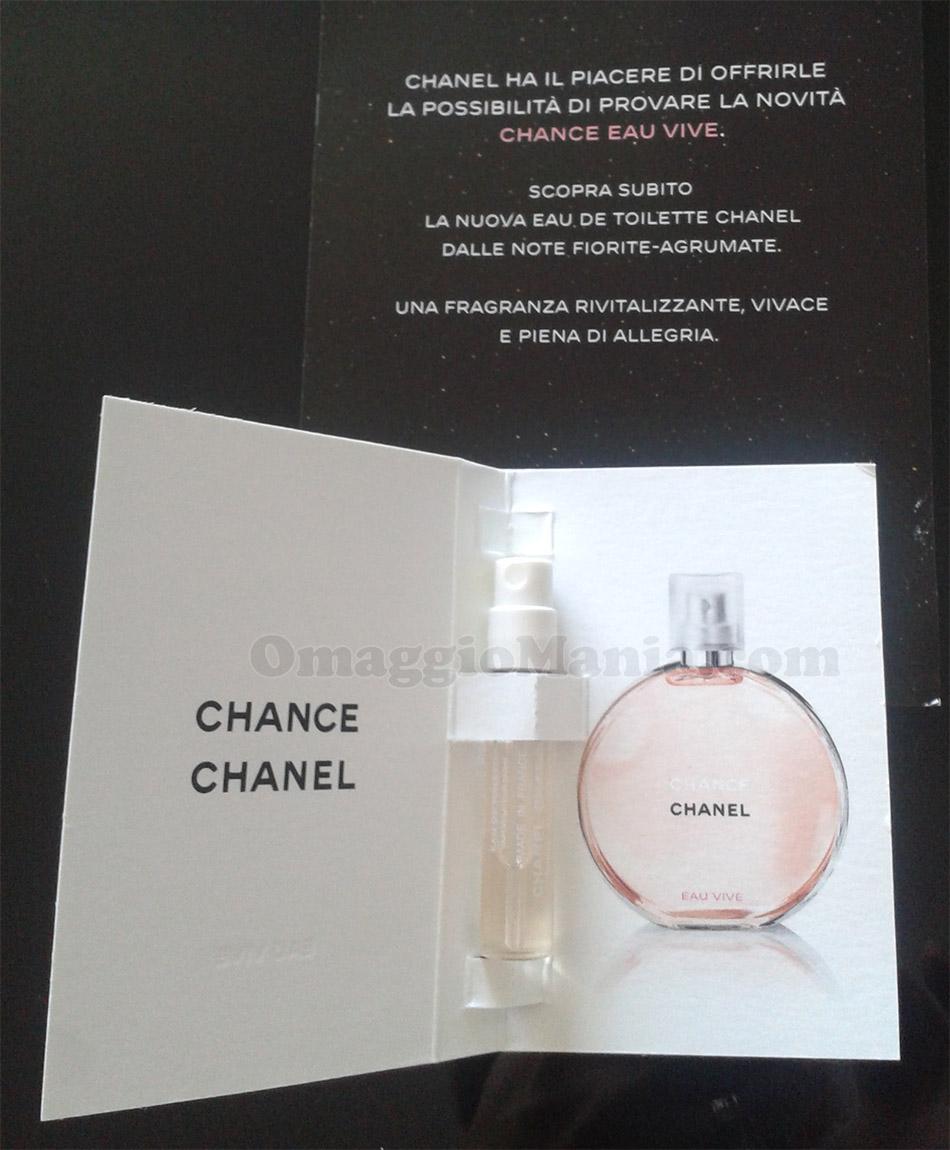 campione omaggio Chanel Chance Eau Vive di Isabella