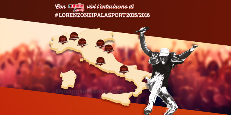 concorso Nutella Lorenzo nei Palasport 2015