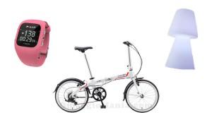 concorso Pink Lady bicicletta pieghevole, orologio e lampada