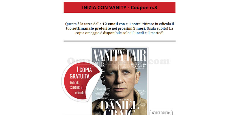 coupon 3 Vanity Fair