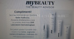 email conferma tester myBeauty SVR Liftiane di Lory