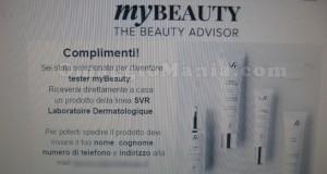 email conferma tester myBeauty SVR Liftiane di Lory