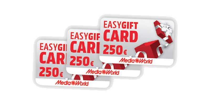 gift card MediaWorld 250 euro