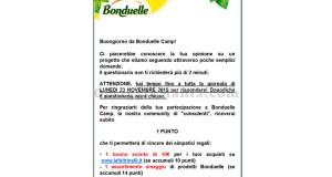 nuovo sondaggio Bonduelle Camp