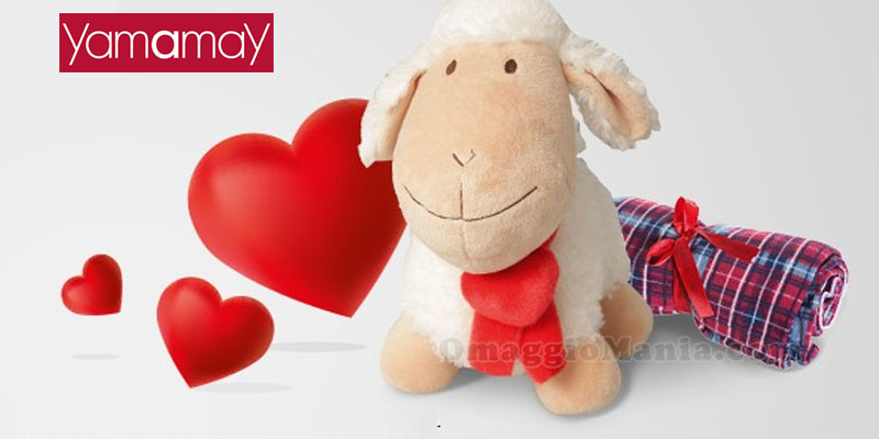 pecorella o plaid omaggio da Yamamay