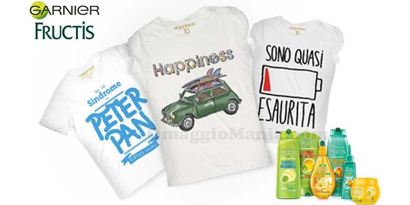 t-shirt omaggio da Garnier Fructis