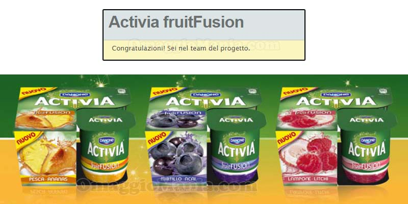 tester Activia FruitFusion