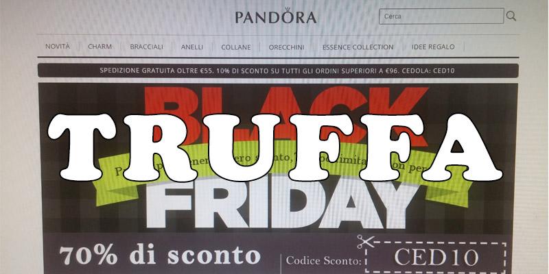 truffa Black Friday Pandora