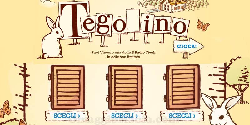 vinci Radio Tivoli con Tegolino Mulino Bianco