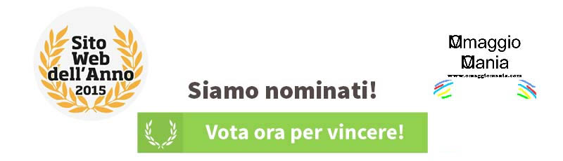 vota OmaggioMania Sito web dell'anno 2015