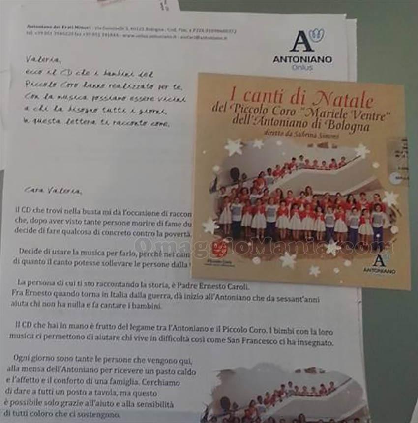 CD I Canti di Natale ricevuto da Valeria