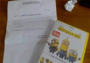 DVD dei Minions vinto da Antonella