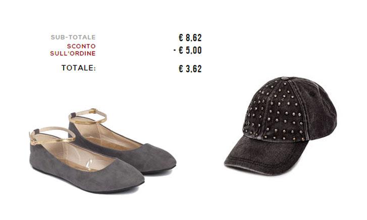 ballerine e cappellino a 3.62€ su OVS