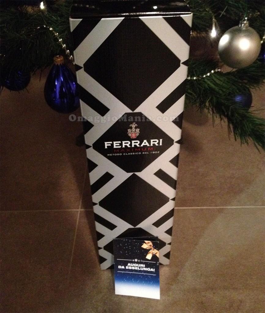 bottiglia di Ferrari Maximum vinta da Dani da Esselunga