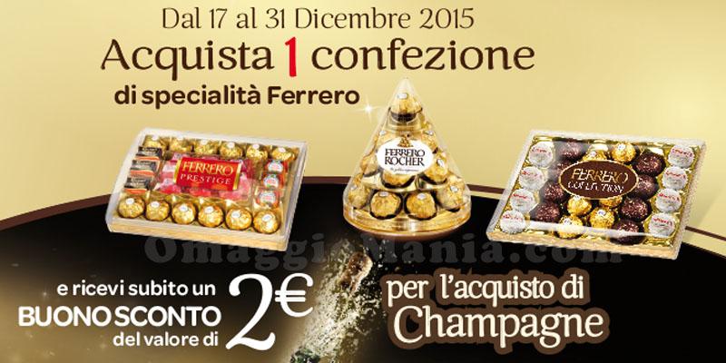 buono sconto sullo champagne con Ferrero