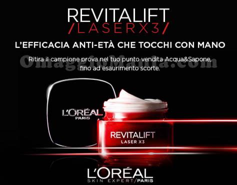 campioni omaggio Revitalift Laser X3 L'Oreal