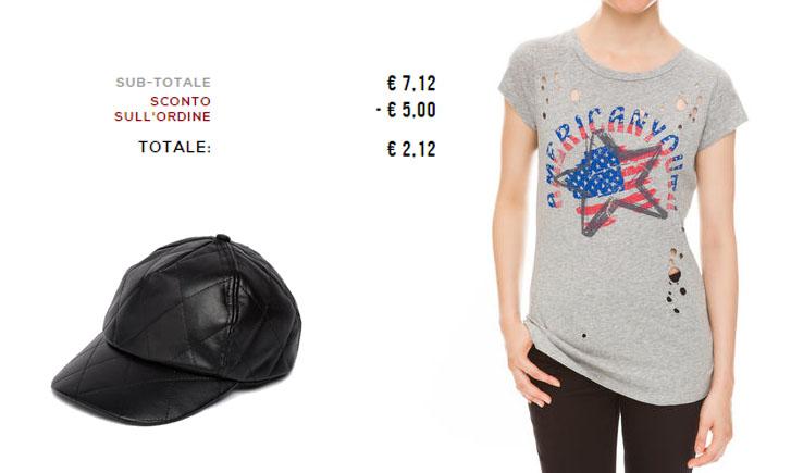 cappellino e t-shirt a 2.12 su OVS