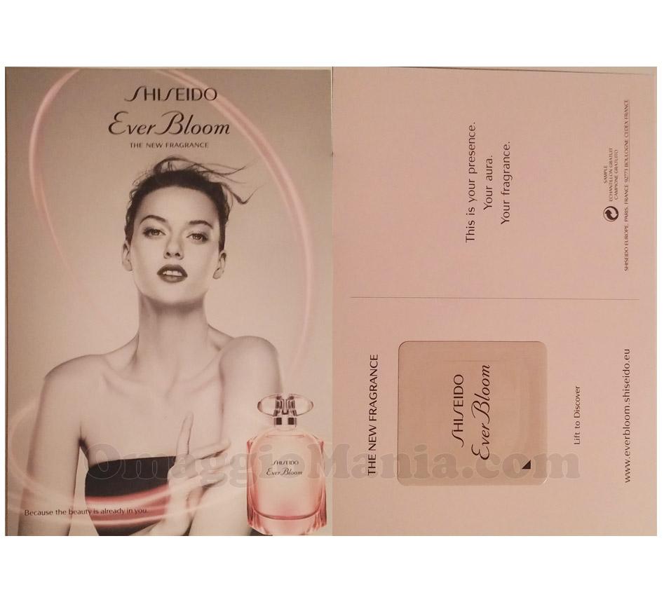cartolina profumata Shiseido Ever Bloom di Ilaria