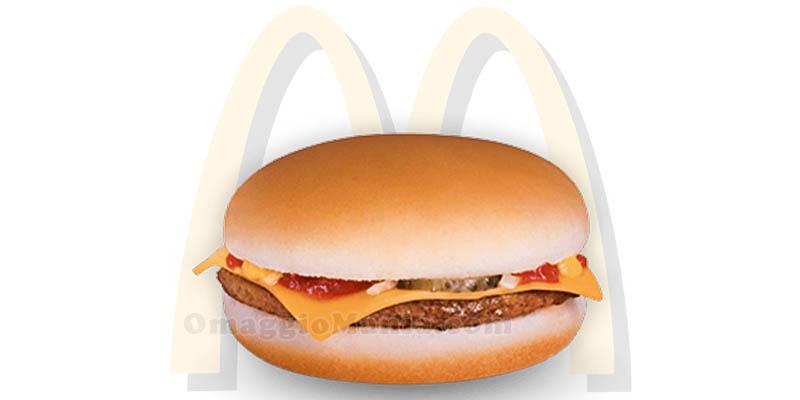cheeseburger omaggio da McDonald's
