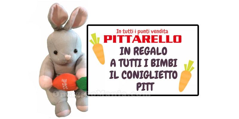 coniglietto Pitt omaggio da Pittarello