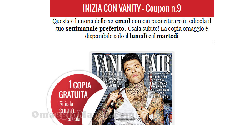 coupon Vanity Fair n.9
