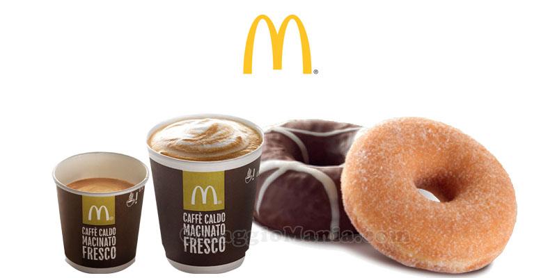 dolcetto o bevanda calda gratis da McDonald's