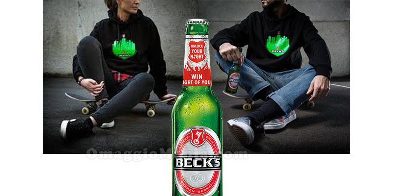 felpa omaggio con Beck's