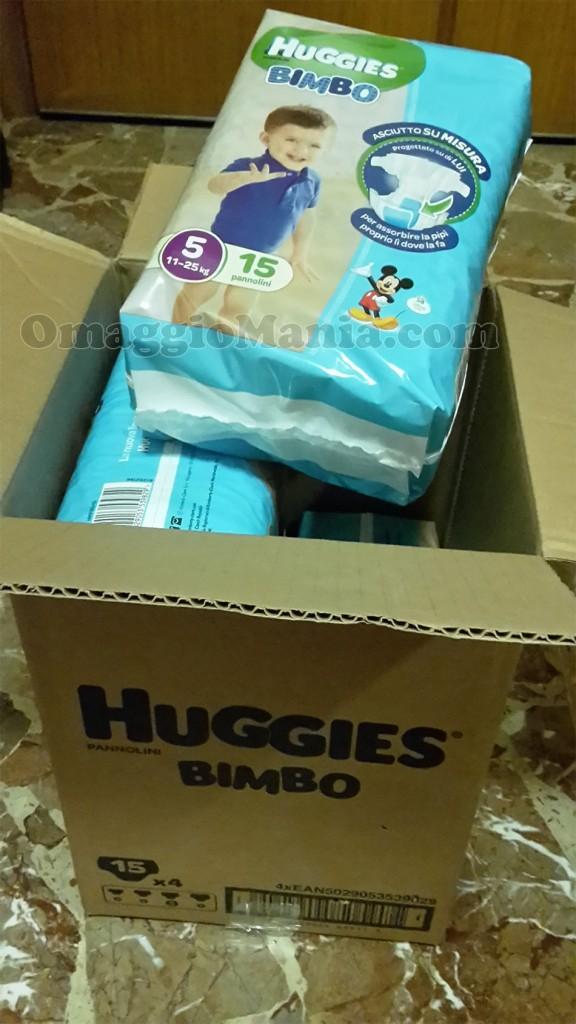 fornitura di pannolini Huggies vinta da Natty