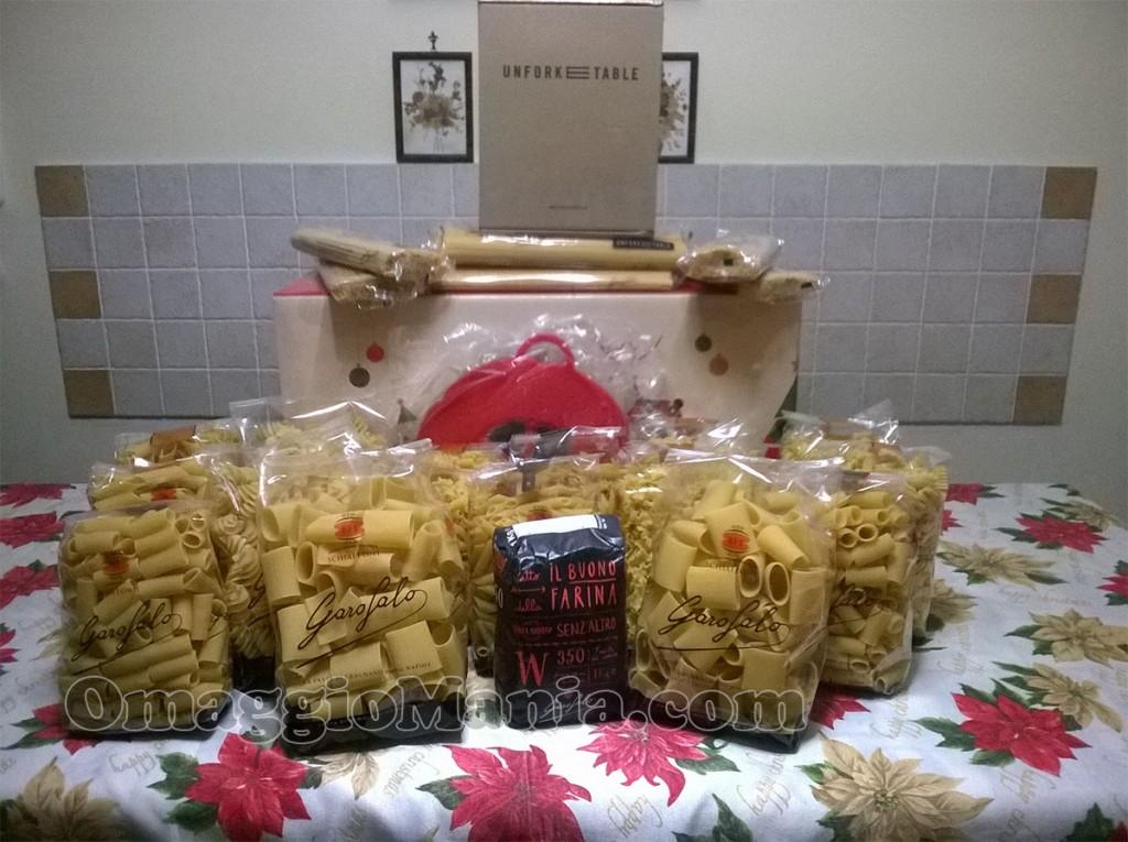 fornitura di pasta Garofalo vinta da Roberta