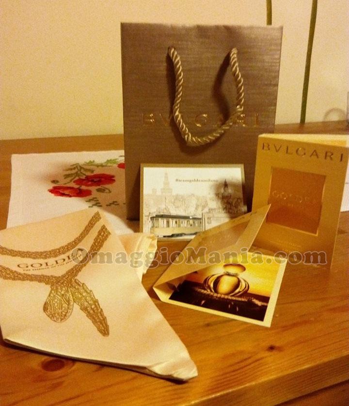foulard Bulgari e campioni omaggio Goldea
