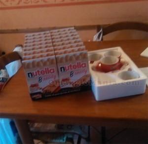 kit colazione Nutella ricevuto da Clara