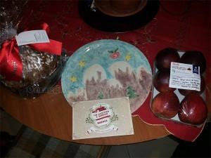 kit panettone e piatto vinto con Modì da Debora