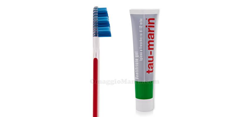 kit spazzolino e dentifricio Tau-Marin