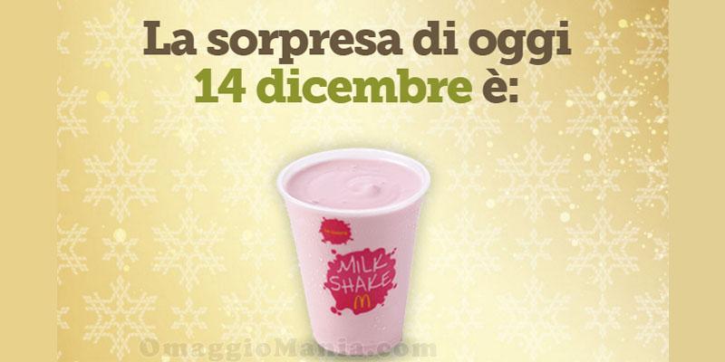 milkshake gratis da McDonald's