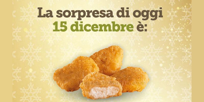 nuggets omaggio da McDonald's 15 dicembre 2015
