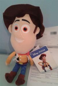 peluche Woody Disney Pixar ricevuto da Adriana