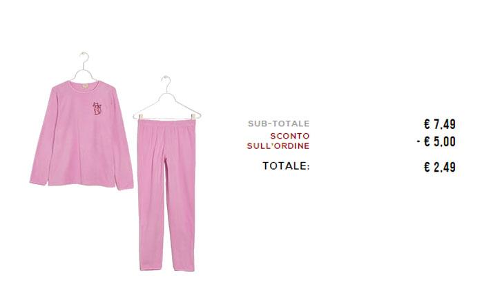 pigiama bimba a 2.49€ su OVS