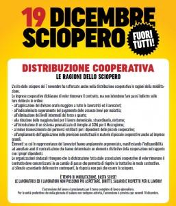 sciopero 19 dicembre supermercati FuoriTutto