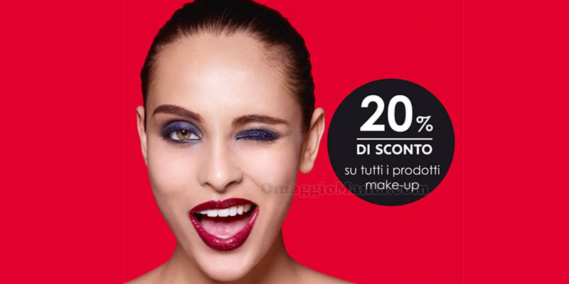 sconto 20% su tutti i make-up da Sephora