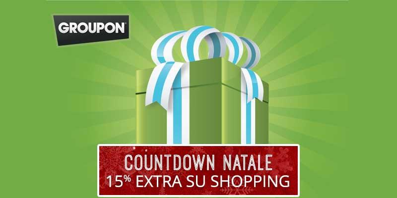 sconto Groupon 15 extra su shopping