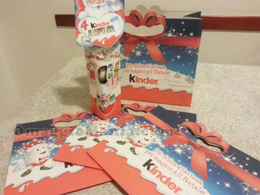 shopper di Natale in omaggio da Kinder